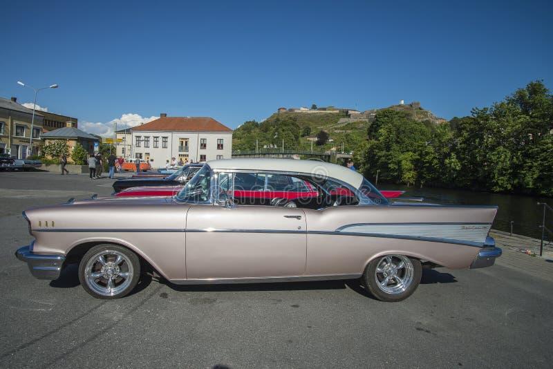 1957 Chevrolet bel air 2 drzwi Hardtop obrazy stock