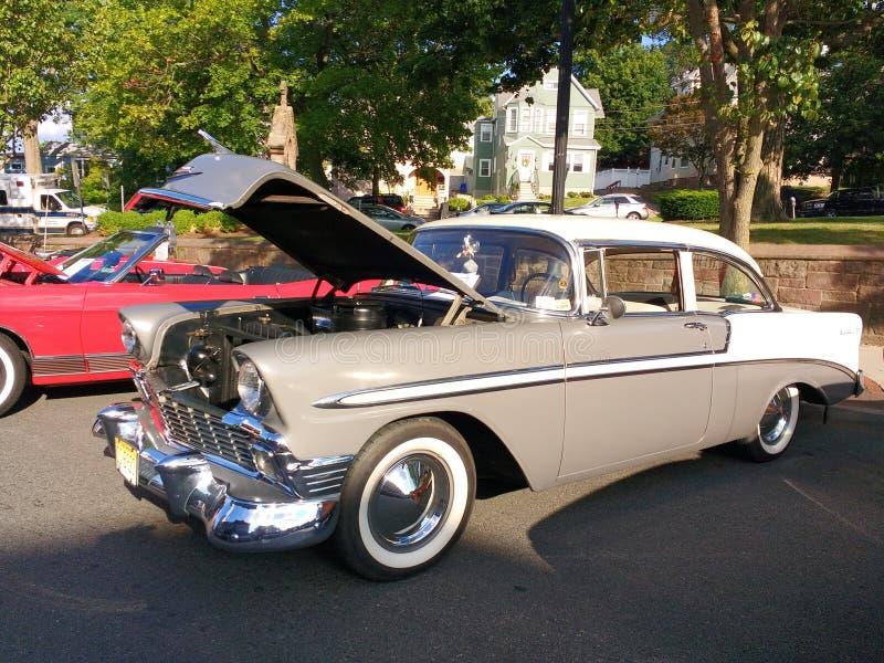 Chevrolet bel air przy Klasyczny car show, usa fotografia royalty free
