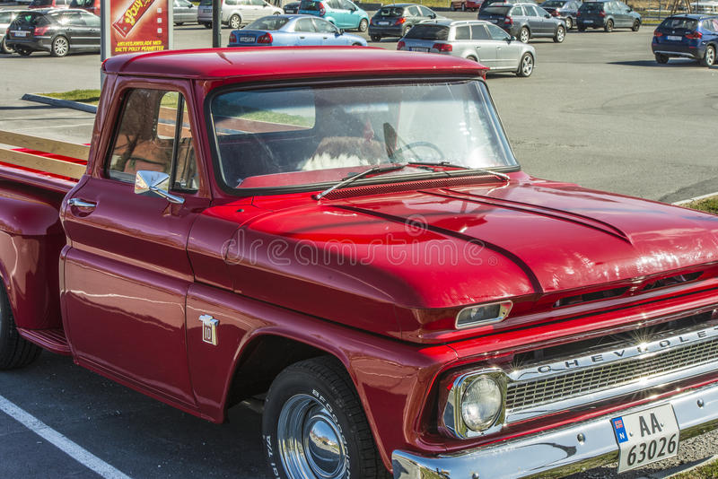 1965 Chevrolet-Bestelwagen C10 Stepside stock afbeeldingen