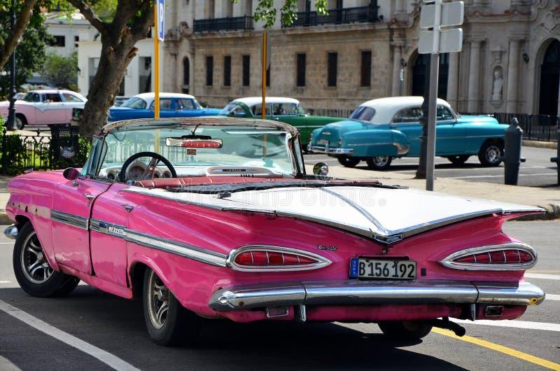 Chevrolet bonitas em Havana velho fotos de stock