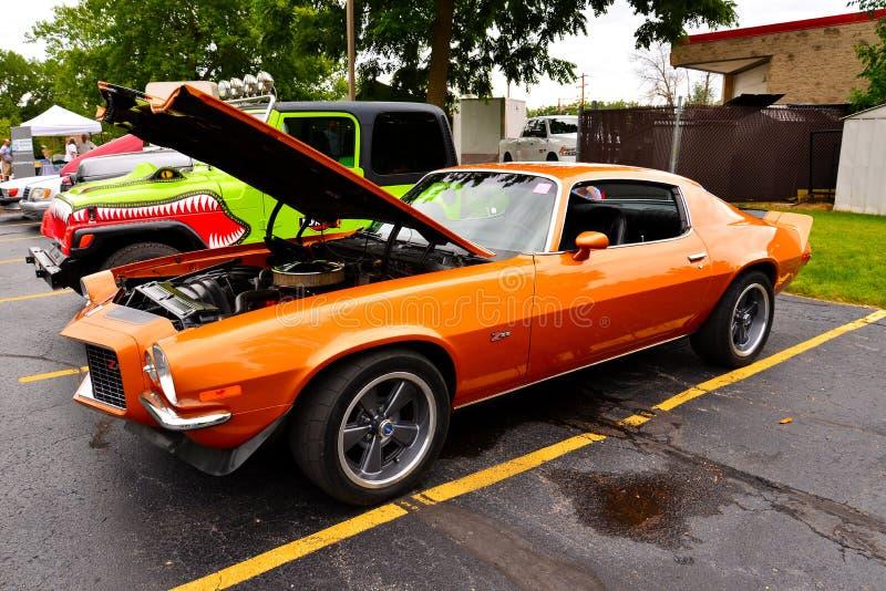 Chevrolet Camaro per la produzione di spezzatino di arancione immagine stock