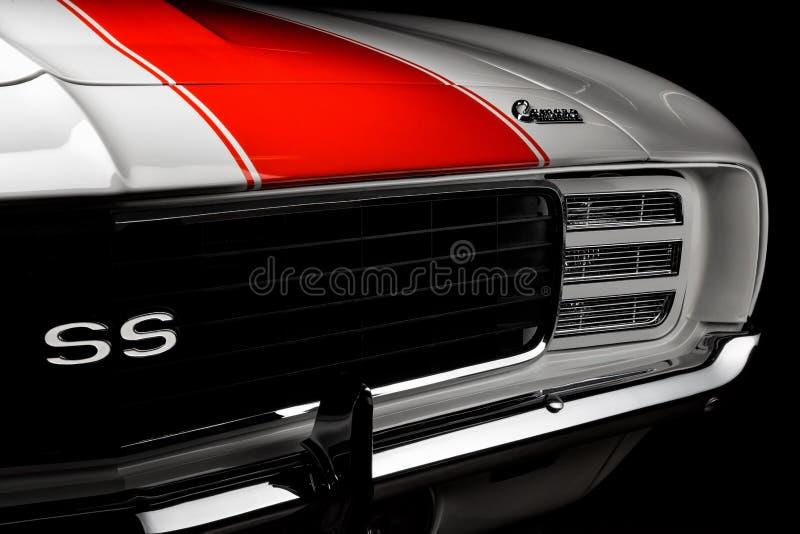 Chevrolet Camaro RS/SS hastighetsbil 1969 royaltyfri foto