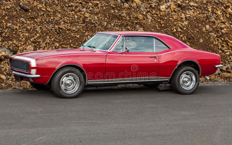 1967 Chevrolet Camaro SS. Image of a 1967 Chevrolet Camaro SS at a drag racing event in Iceland stock photos