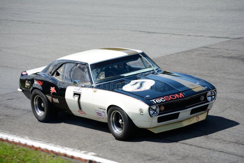 Chevrolet Camaro 1967 Z28 som turnerar bilen royaltyfria foton