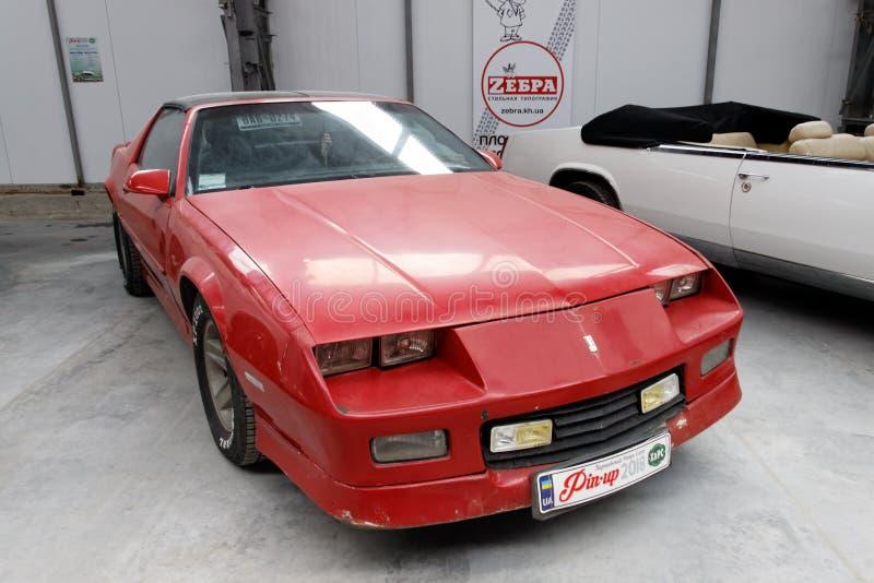 Chevrolet- Camaroweinlese Motor- Archivbild stockfoto