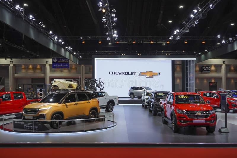 Chevrolet Captiva na cabine da exposição na exposição automóvel 2019 imagens de stock royalty free