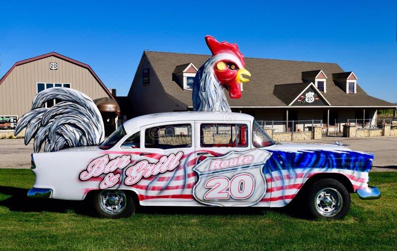 Chevrolet Chickenmobile imagem de stock