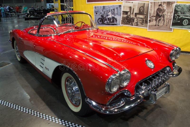 1959 Chevrolet-Convertibel Korvet royalty-vrije stock foto