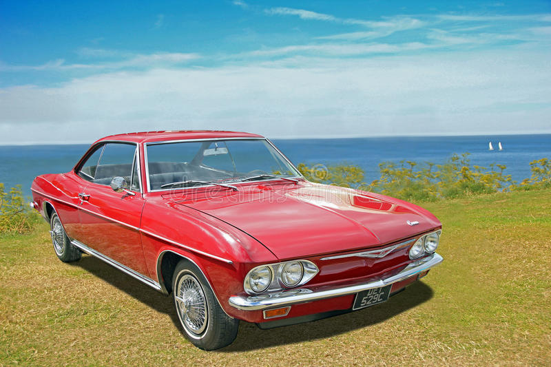 Chevrolet corvair vintage classic car royalty free stock photos