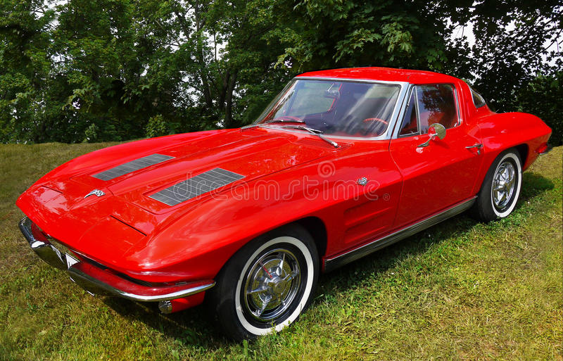 Chevrolet Corvette, винтажные автомобили стоковые изображения