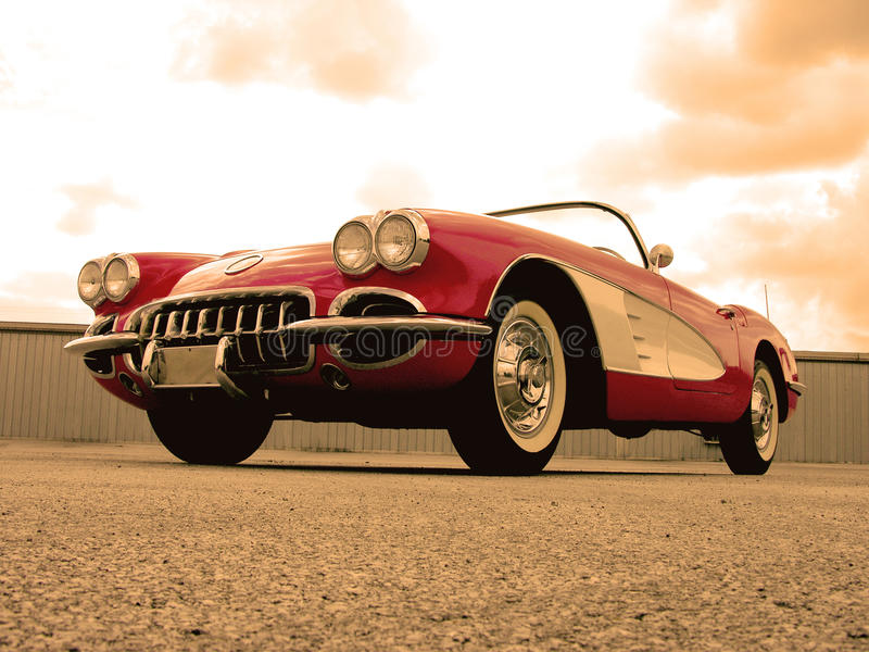 Chevrolet Corvette 1959 imagen de archivo libre de regalías