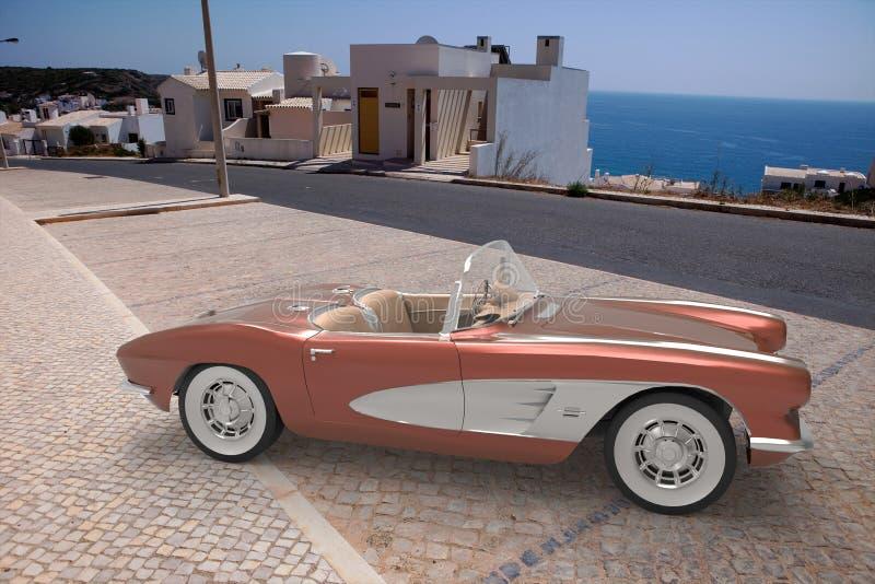 Download Chevrolet Corvette 1958 stock abbildung. Illustration von auto - 96931489
