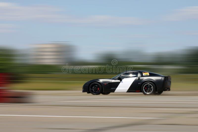 Chevrolet Corvette auf einem Rennen stockbild