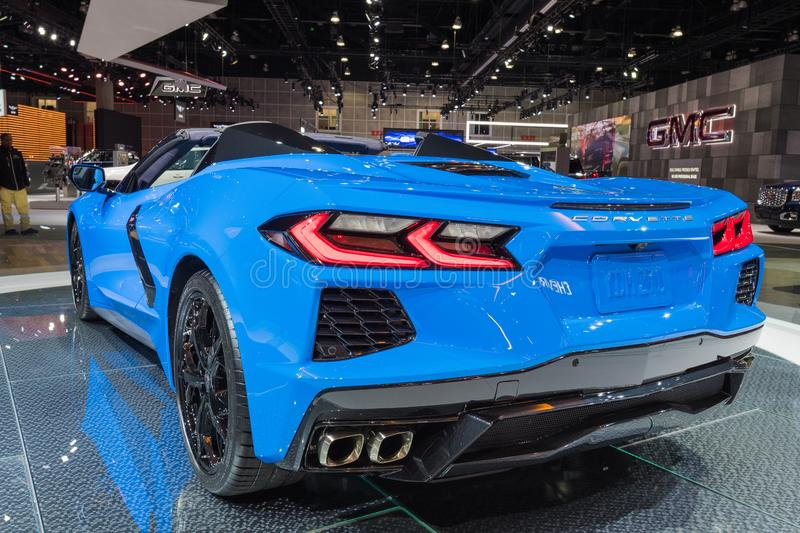 Chevrolet Corvette C8 on display during Los Angeles Auto Show royalty free stock image