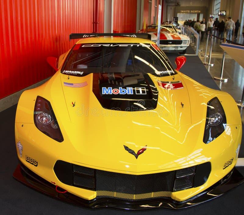 Chevrolet Corvette C7. R-Rennwagen an der New- Yorkinternational-Automobilausstellung 2014 stockbild