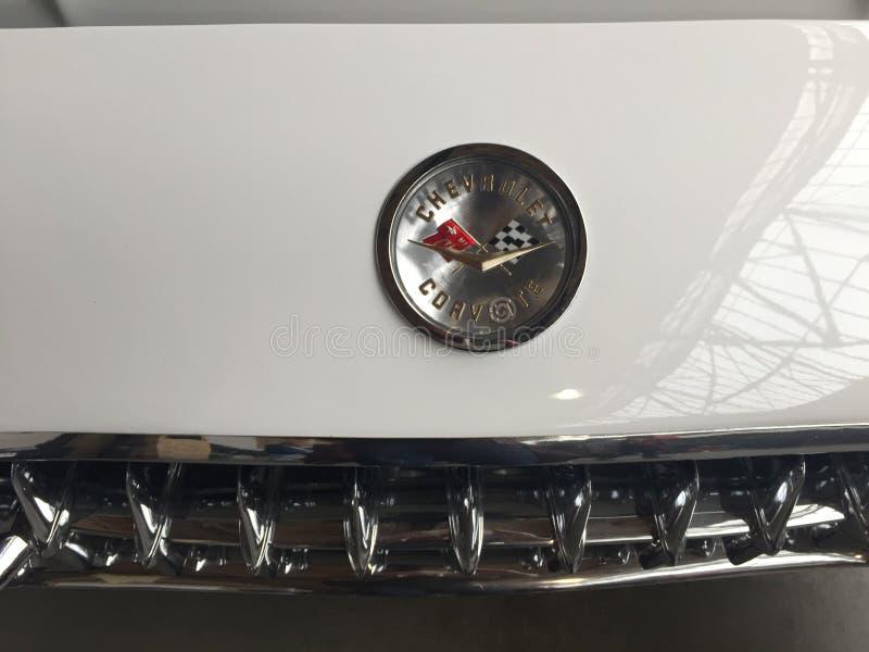 Chevrolet Corvette emblem arkivbild