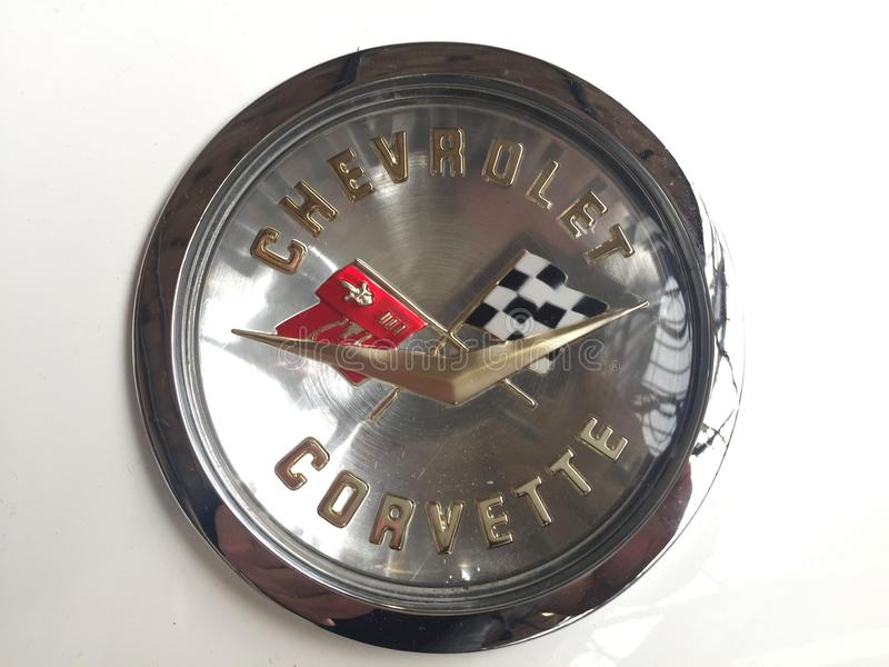 Chevrolet Corvette emblem arkivfoto