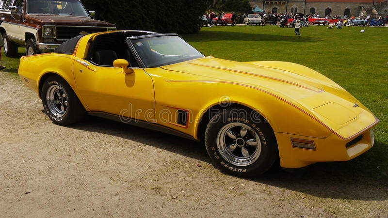 Chevrolet Corvette, klassische US-Autos stockfoto