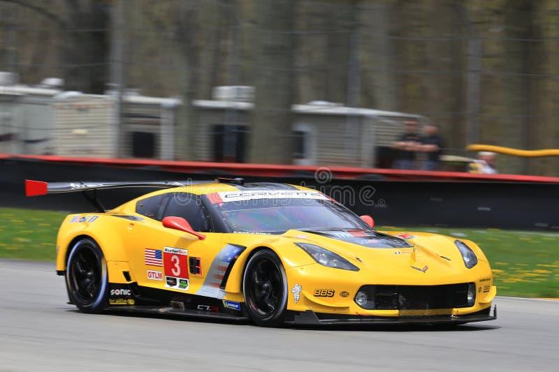 Chevrolet Corvette laufendes C7 r stockbild