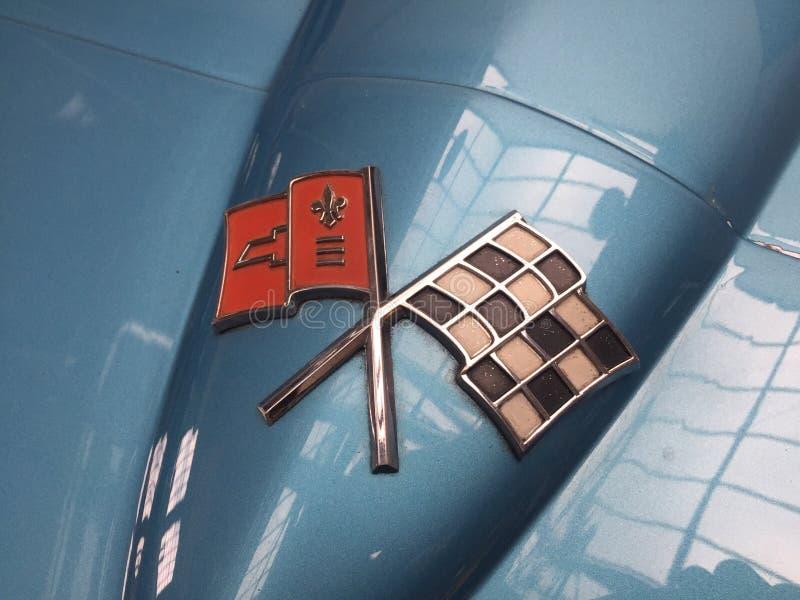 Chevrolet Corvette logo fotografering för bildbyråer