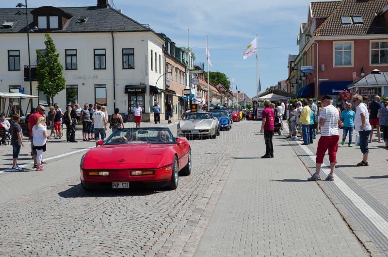 Chevrolet Corvette Parade lizenzfreie stockfotografie