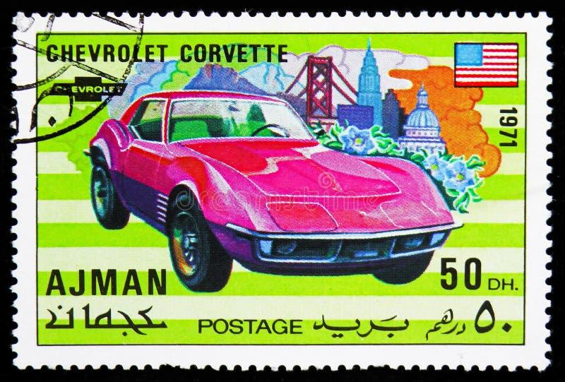 Chevrolet Corvette sportbilserie, circa 1971 arkivfoto