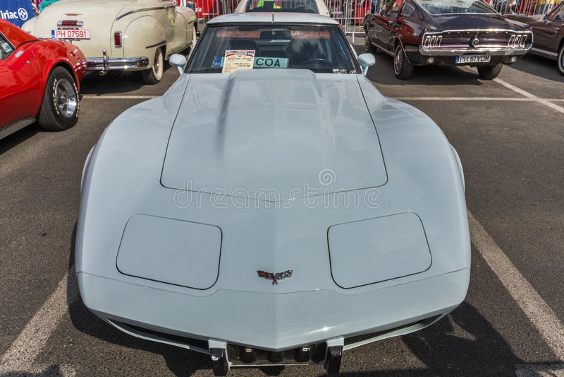 Chevrolet Corvette Stechrochen 1973 lizenzfreies stockfoto