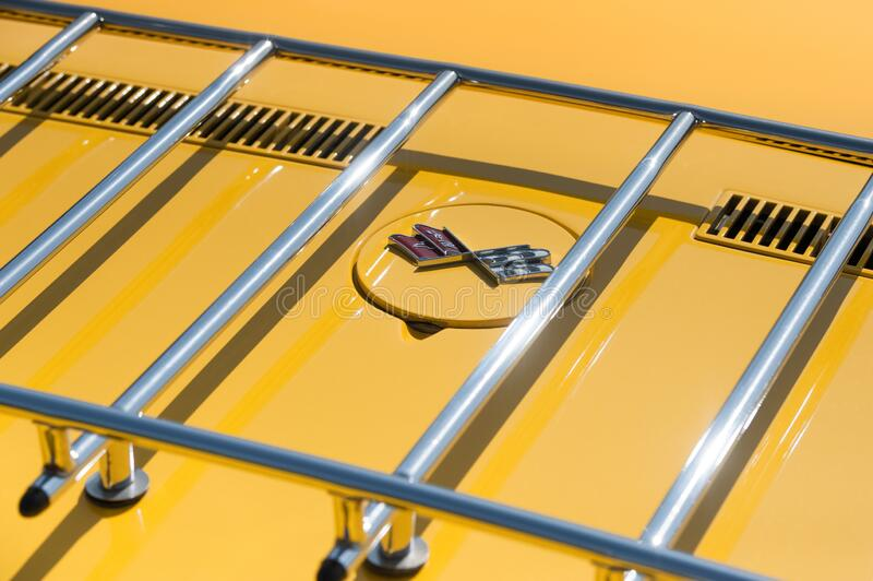 Chevrolet Corvette Stingray luggage rack stock photos