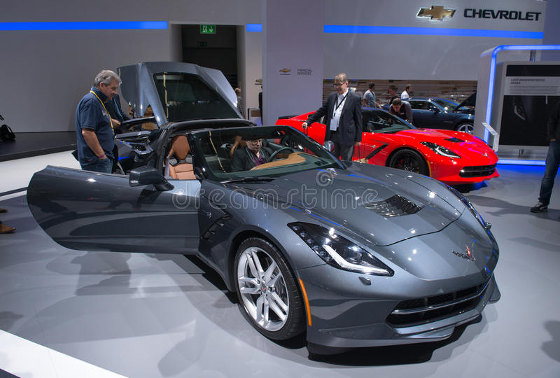 Chevrolet Corvette stingrockacabriolet arkivfoto