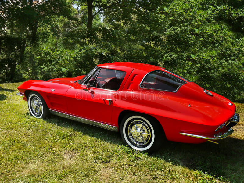 Chevrolet Corvette, Vintage cars royalty free stock photography