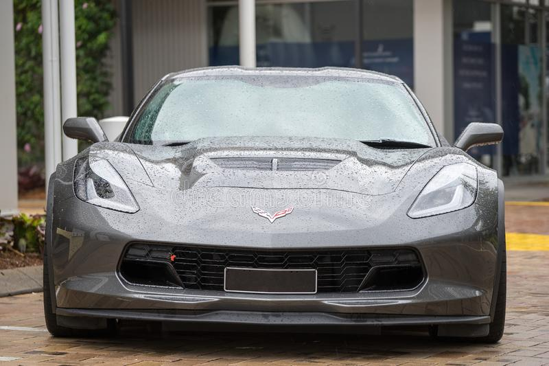 2015 Chevrolet Corvette Z06 Front View royalty free stock photos
