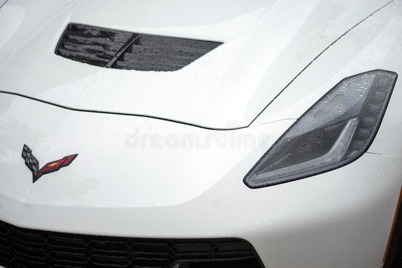 2015 Chevrolet Corvette Z06 Headlight Closeup stock images