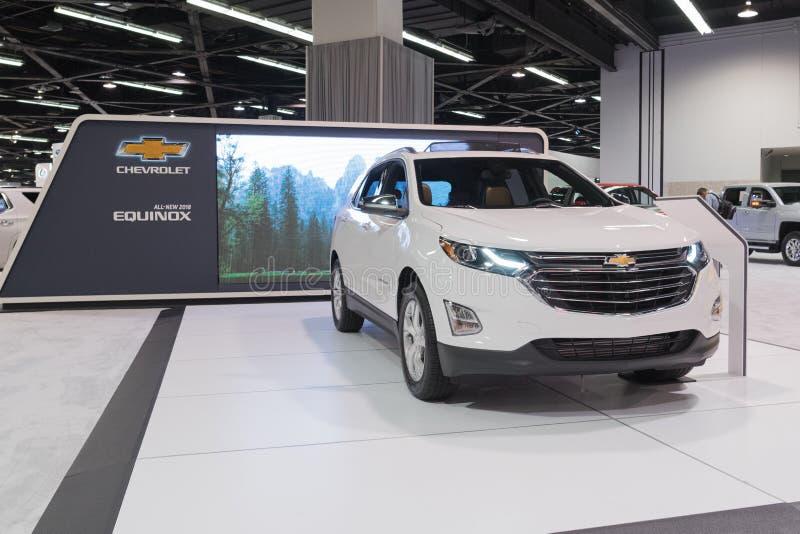 Chevrolet-'equinox' op vertoning royalty-vrije stock afbeelding