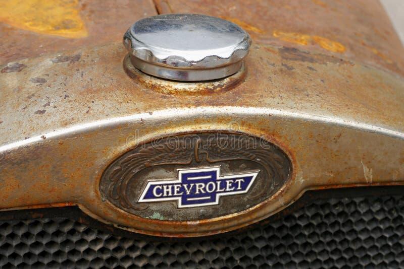 Chevrolet historic car. Banff National Park, Alberta, Canada. 20 September 2017 royalty free stock images