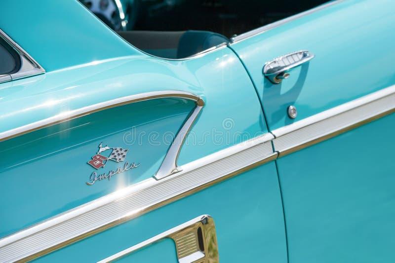 Chevrolet Impala vehicle badge royalty free stock photography