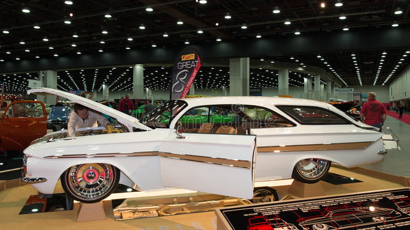 Chevrolet- Impalablasen-Spitze 1961 stockfotos