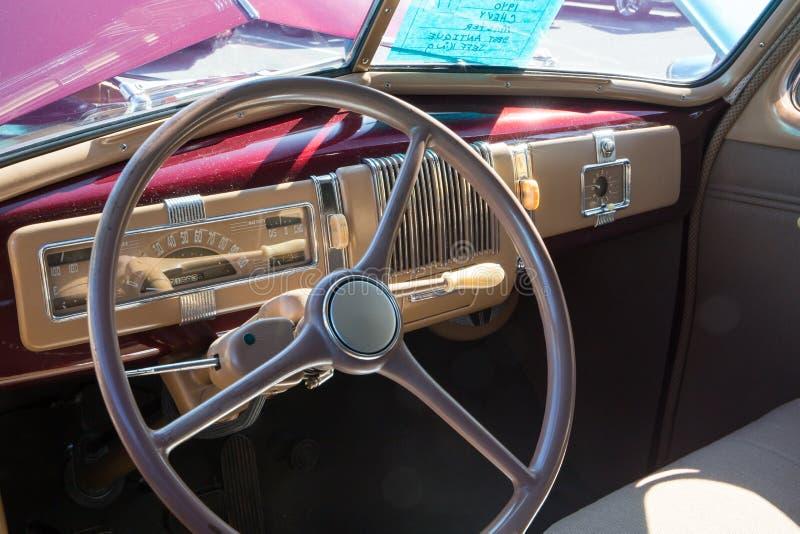 Chevrolet-Innenraum 1940 lizenzfreie stockfotos