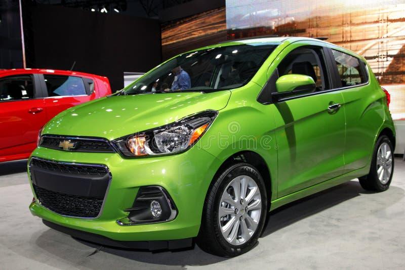Chevrolet iskra przy 2016 Nowy Jork Międzynarodowym Auto przedstawieniem fotografia stock