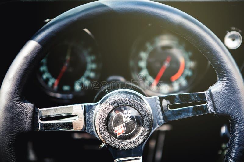 Chevrolet korwety C3 kierownica fotografia stock