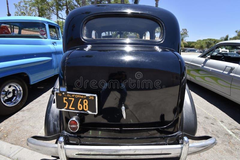 1935 Chevrolet Luxe in Zwarte, 5 royalty-vrije stock fotografie