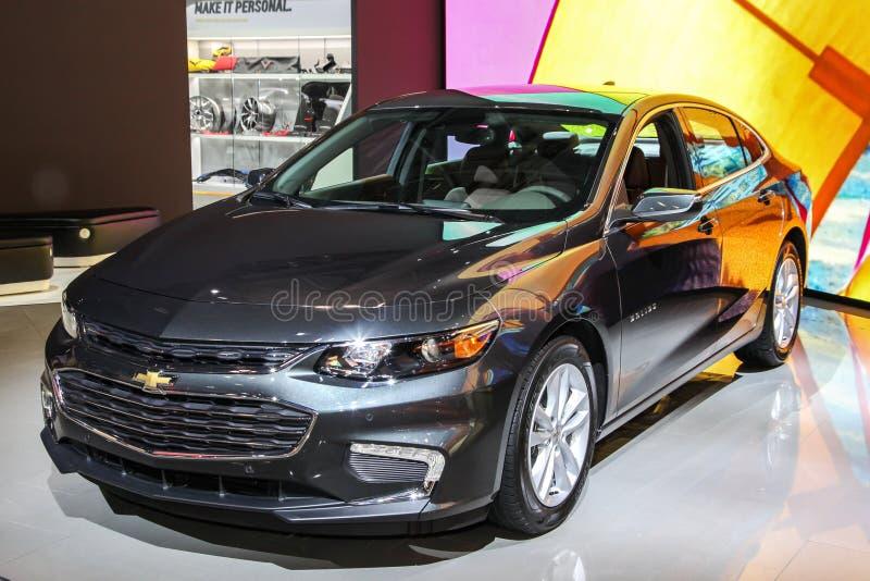 Chevrolet Malibu en el salón del automóvil 2016 del International de Nueva York fotos de archivo libres de regalías