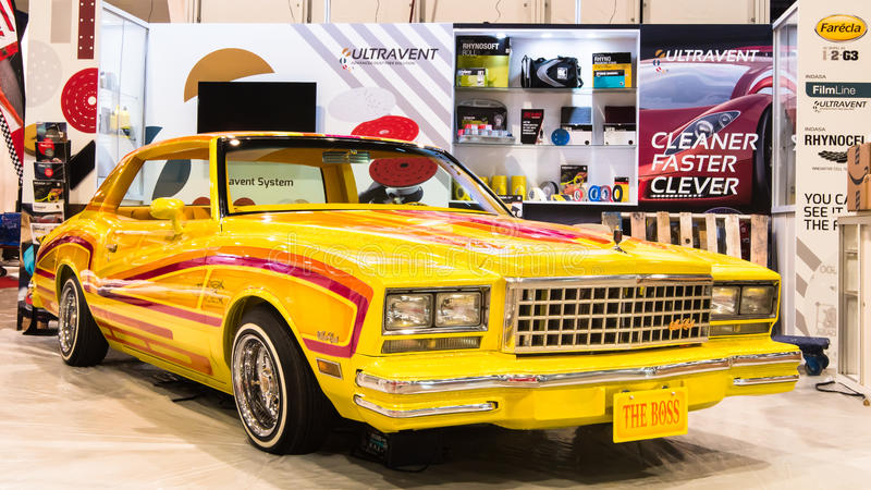 Chevrolet Malibu at SEMA. royalty free stock photos