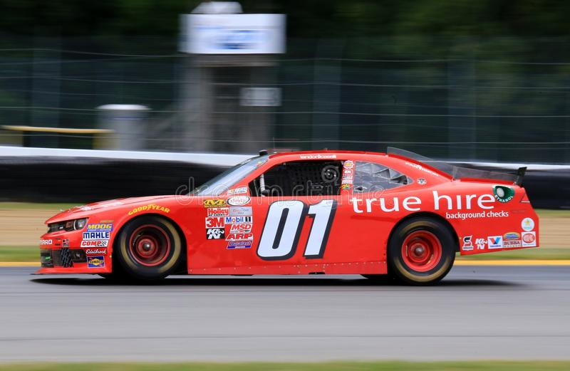 Chevrolet NASCAR na trilha fotografia de stock