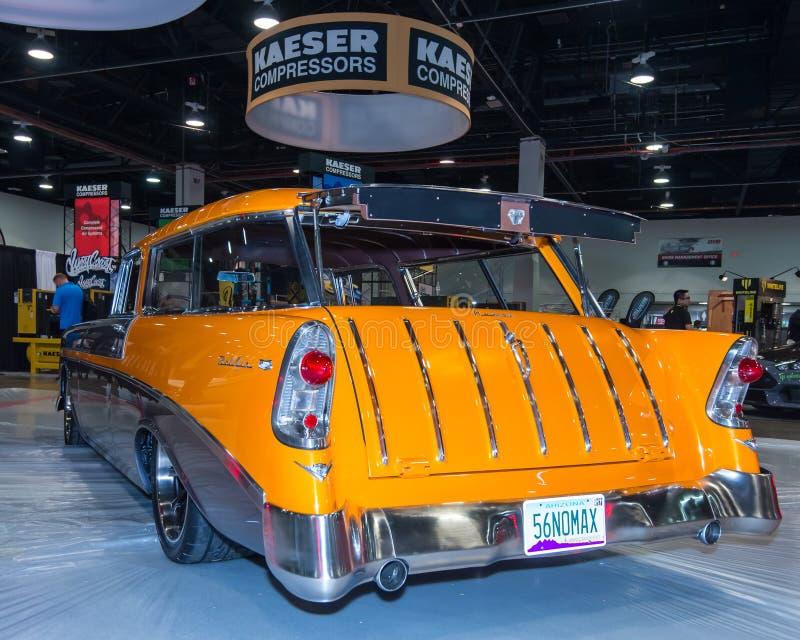 Chevrolet-Nomade bij SEMA stock afbeeldingen
