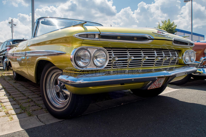 Chevrolet - Old timer. US Chevrolet old-timer at the Automobile Club Bayreuth Oldtimer meeting 24.07.2016 in Bayreuth Germany Northern Bavaria stock photography