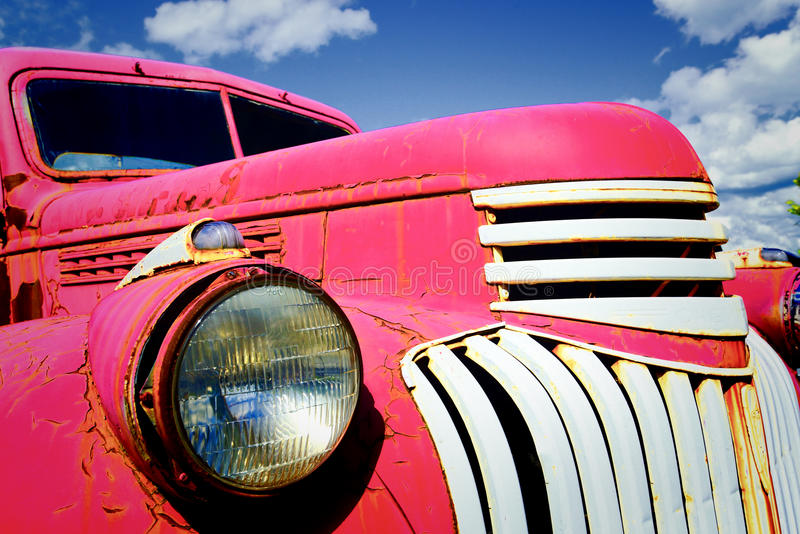 1945 Chevrolet Pickup Truck. An antique 1945 Chevrolet pickup truck, originally made to haul fuel oil stock photos