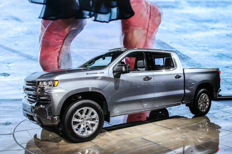 2019 Chevrolet Silverado royalty-vrije stock foto