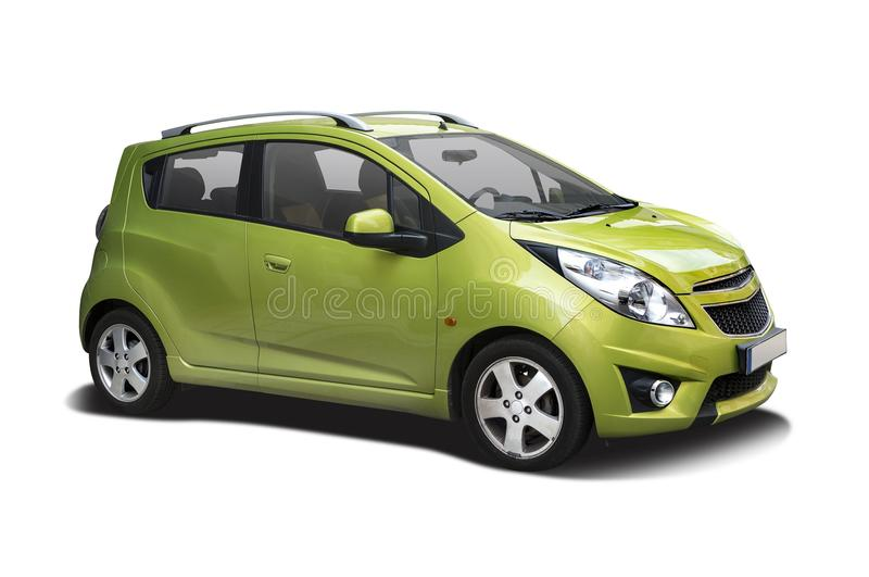 Chevrolette Spark. Side view isolated on white stock photo