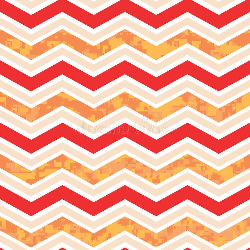 Chevron anaranjado y rojo Camo libre illustration
