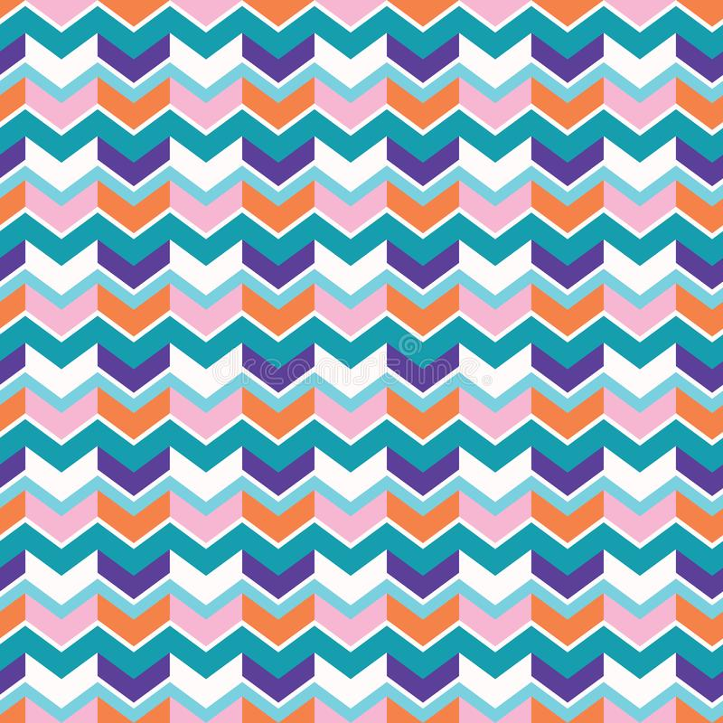 Chevron Arrow Pattern Seamless Vector Pattern. Bright Wavy Stripes. Texture Illustration for Trendy Home Decor, Summer Fashion Prints, Retro Wallpaper vector illustration